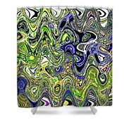 Bedtime Color Abstract Shower Curtain