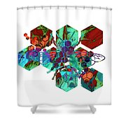 Bee #2 Shower Curtain