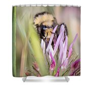 Bee 3 Shower Curtain