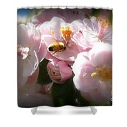 Bee Blossoms 2 Shower Curtain