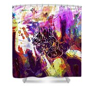 Bee Close Insect Flower  Shower Curtain