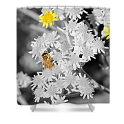 Bee Colored Shower Curtain