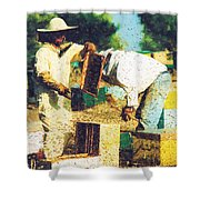 Bee Keepers Shower Curtain