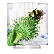 Bee-line 4 Shower Curtain