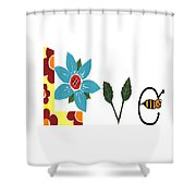 Bee Love Shower Curtain