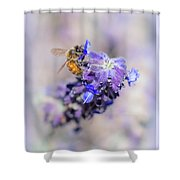 Bee On Sage Shower Curtain