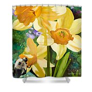 Bee Open By Marilyn Nolan-johnson Shower Curtain