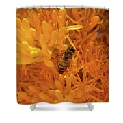 Bee Positive Shower Curtain
