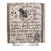 Bee You Shower Curtain