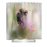 Bee2 Shower Curtain
