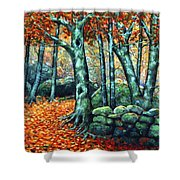 Beech Woods Shower Curtain