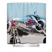Beechcraft C-45h Shower Curtain