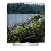 Beecraigs Loch. Shower Curtain