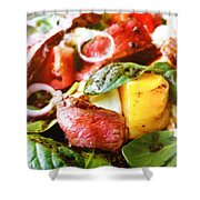 Beef And Onions Shower Curtain