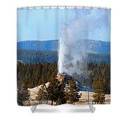 Beehive Geyser Shower Curtain