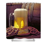 Beer And Pretzels Shower Curtain