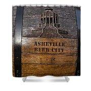 Beer Barrel City Shower Curtain