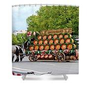 Beer Barrels On Cart Shower Curtain