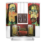 Beer Nuts Shower Curtain
