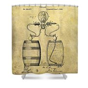 Beer Pump Patent Shower Curtain