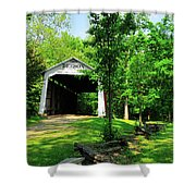 Beeson Covered Bridge Shower Curtain