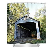 Beeson Covered Bridge Indiana Shower Curtain
