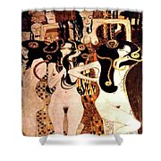 Beethoven Frieze  The Hostile Forces The Three Gorgones Sickness, Madness, Death Shower Curtain