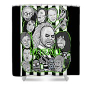 Beetlejuice Tribute Shower Curtain