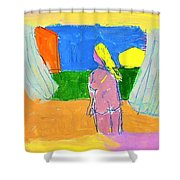 Before A Window Shower Curtain