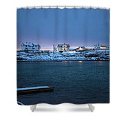Before Dawn Reine Lofoten Shower Curtain