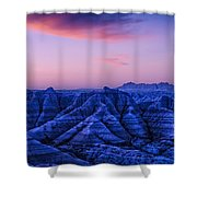 Before Sunrise, Badlands National Park Shower Curtain