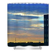 Before Sunset Color  Shower Curtain