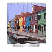 Before The Crowds Arrive Shower Curtain