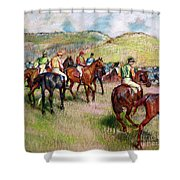Before The Race Shower Curtain by Edgar Degas