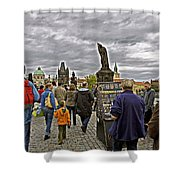 Before The Rain On The Charles Bridge Shower Curtain