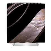 Before The Rubber Meets The Road Shower Curtain by Rona Black