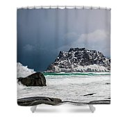 The Coming Of The Storm Shower Curtain
