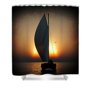 Before The Sun Sets... Shower Curtain