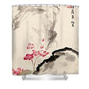 Begonia Flowers Shower Curtain