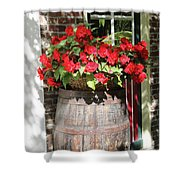 Begonias In The Barrel Shower Curtain