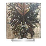 Beguiling Green Man Shower Curtain