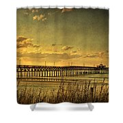 Behind Cherry Grove Pier  Shower Curtain