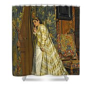 Behind Closed Doors Shower Curtain
