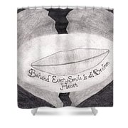 Behind Every Smile Shower Curtain