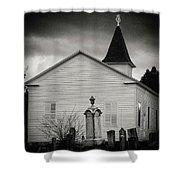 Behind The Church Shower Curtain