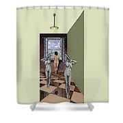 Behind The Curtain Shower Curtain