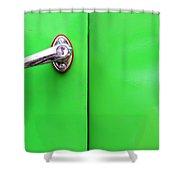 Behind The Door Of Jealousy Shower Curtain