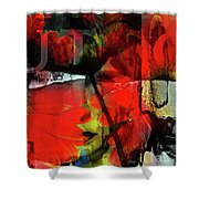 Behind The Poppies Shower Curtain