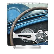 Behind The Wheel Shower Curtain