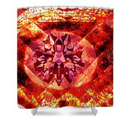 Behold The Jeweled Eye Of Blood Shower Curtain